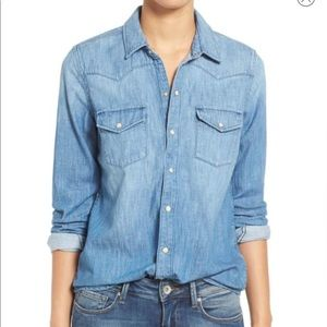 Lucky Brand Classic Western Shirt Size Medium